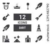 dirt icon set. collection of 12 ... | Shutterstock .eps vector #1291482790