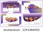 ecommerce sale offer character... | Shutterstock .eps vector #1291484053