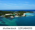 seascape of mahogany bay  isla... | Shutterstock . vector #1291484353