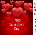 saint valentine's day greeting...   Shutterstock .eps vector #1291485193