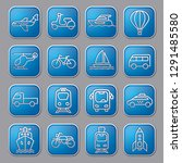 set of blue concept icons and... | Shutterstock .eps vector #1291485580