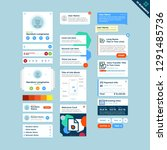 universal ui kit for designing... | Shutterstock .eps vector #1291485736