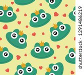 frog cute seamless pattern for... | Shutterstock .eps vector #1291486219