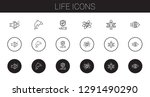 life icons set. collection of... | Shutterstock .eps vector #1291490290