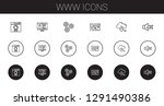 www icons set. collection of... | Shutterstock .eps vector #1291490386