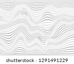 warped lines.wavy lines made... | Shutterstock . vector #1291491229