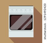 gas stove icon. flat... | Shutterstock .eps vector #1291492420
