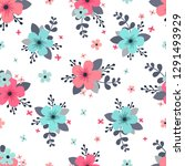 seamless floral pattern. for...   Shutterstock .eps vector #1291493929