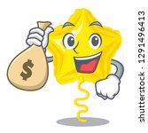 with money bag star balloon was ... | Shutterstock .eps vector #1291496413