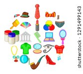 formalization icons set.... | Shutterstock .eps vector #1291499143