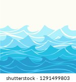 blue water sea waves abstract... | Shutterstock .eps vector #1291499803