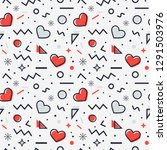 love seamless pattern with... | Shutterstock .eps vector #1291503976