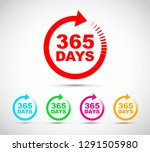 three hundred and sixty five... | Shutterstock .eps vector #1291505980