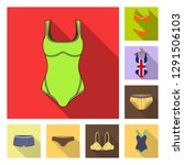 vector design of bikini and... | Shutterstock .eps vector #1291506103