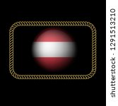 gold emblem with austria flag.... | Shutterstock .eps vector #1291513210