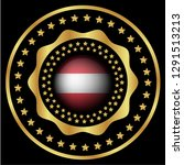 gold emblem with austria flag.... | Shutterstock .eps vector #1291513213
