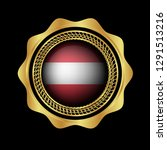 gold emblem with austria flag.... | Shutterstock .eps vector #1291513216