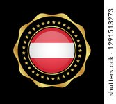 gold emblem with austria flag.... | Shutterstock .eps vector #1291513273