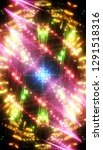 neon colored lights background. ... | Shutterstock . vector #1291518316