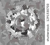 trophy icon inside grey camo... | Shutterstock .eps vector #1291530703