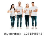 full length view of happy young ... | Shutterstock . vector #1291545943