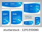 airplane flight transportation... | Shutterstock .eps vector #1291550080