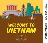 flat design  welcome to vietnam ... | Shutterstock .eps vector #1291550869