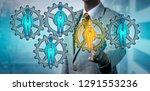 recruitment agent selecting one ... | Shutterstock . vector #1291553236