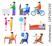 set of concept icons for human... | Shutterstock .eps vector #1291561210