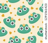 frog cute seamless pattern for... | Shutterstock .eps vector #1291561423