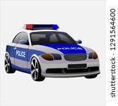 police car vector illustration | Shutterstock .eps vector #1291564600