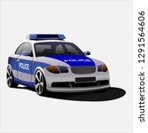 police car vector illustration | Shutterstock .eps vector #1291564606