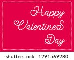 valentine s day lettering. hand ... | Shutterstock .eps vector #1291569280