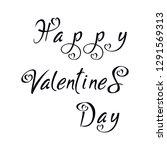 valentine s day lettering. hand ... | Shutterstock .eps vector #1291569313