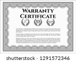 grey retro warranty template.... | Shutterstock .eps vector #1291572346