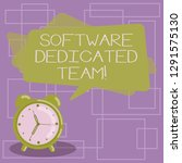 text sign showing software...   Shutterstock . vector #1291575130