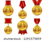 champion gold medals. award... | Shutterstock .eps vector #1291575859