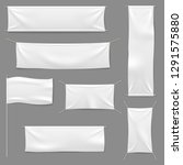 white textile banners. blank... | Shutterstock .eps vector #1291575880