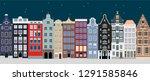 north european ancient town...   Shutterstock .eps vector #1291585846