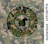 shirt icon inside camouflaged... | Shutterstock .eps vector #1291587976