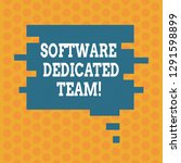 writing note showing software...   Shutterstock . vector #1291598899