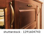 new oak chest of drawers. brown ... | Shutterstock . vector #1291604743