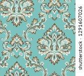 vector damask seamless pattern...   Shutterstock .eps vector #1291607026