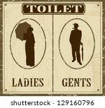 Toilet Retro Vintage Grunge...