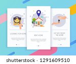 onboarding screens user... | Shutterstock .eps vector #1291609510