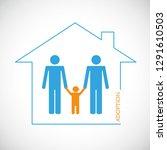 two homosexual men adopt a... | Shutterstock .eps vector #1291610503