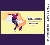 skateboarder vector illustration | Shutterstock .eps vector #1291617529