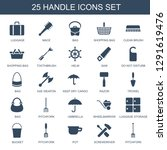 handle icons. trendy 25 handle... | Shutterstock .eps vector #1291619476