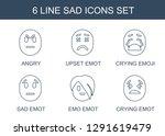 sad icons. trendy 6 sad icons.... | Shutterstock .eps vector #1291619479