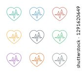 heartbeat icon white background.... | Shutterstock .eps vector #1291620649